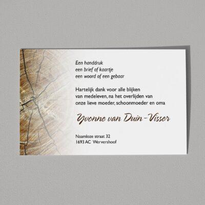 Dankbetuiging Houtnerf