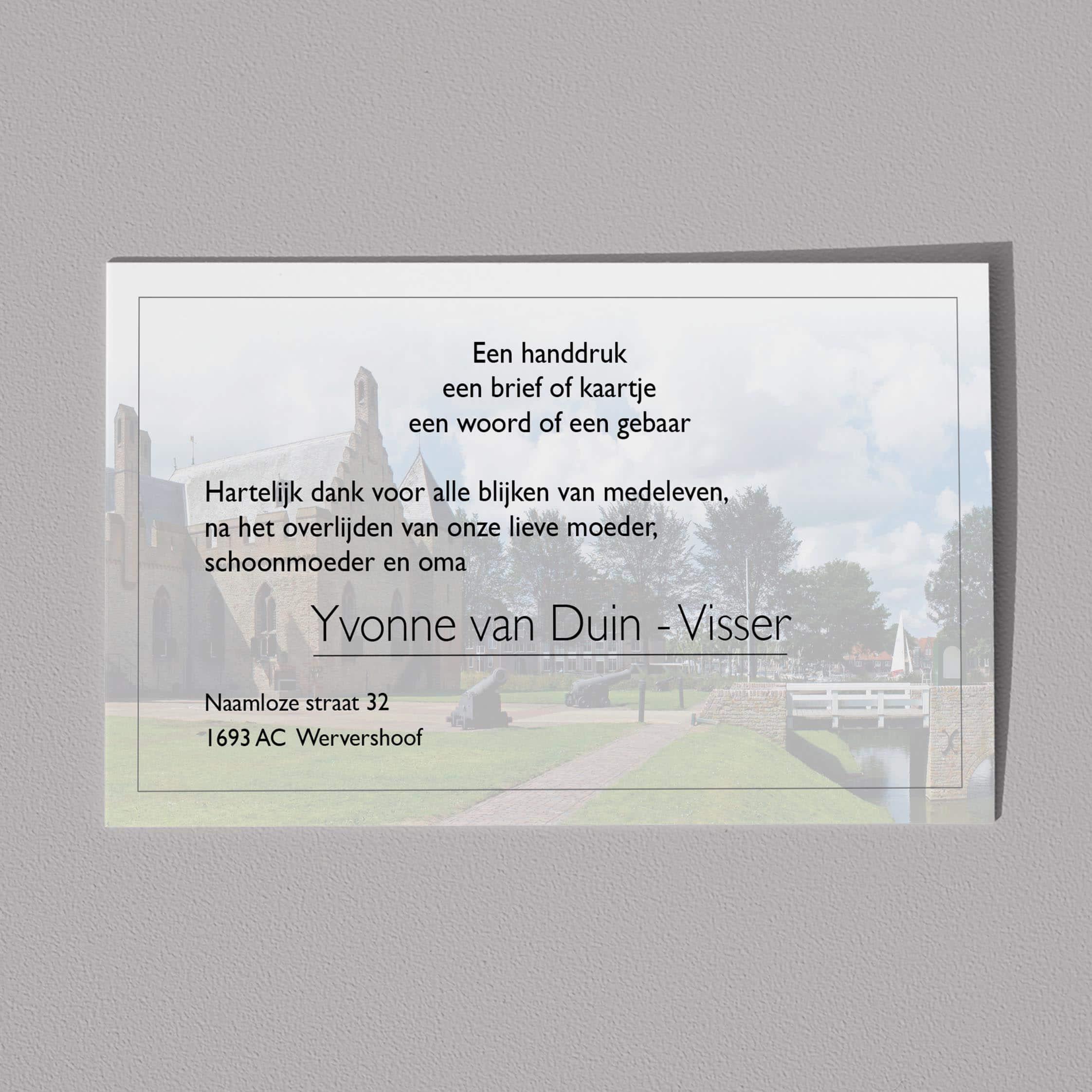 Dankbetuiging West Friesland